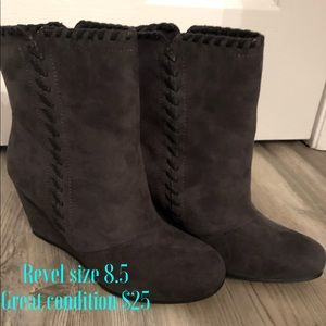 Women's Revel Gray boots size 8.5. Great condition